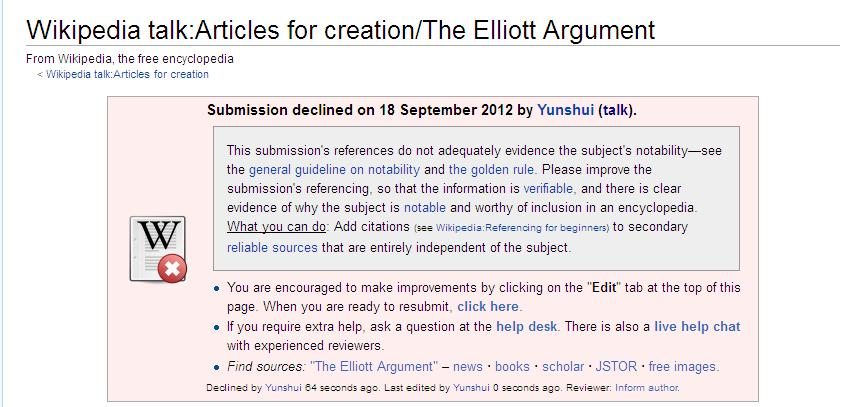 The Elliott Argument